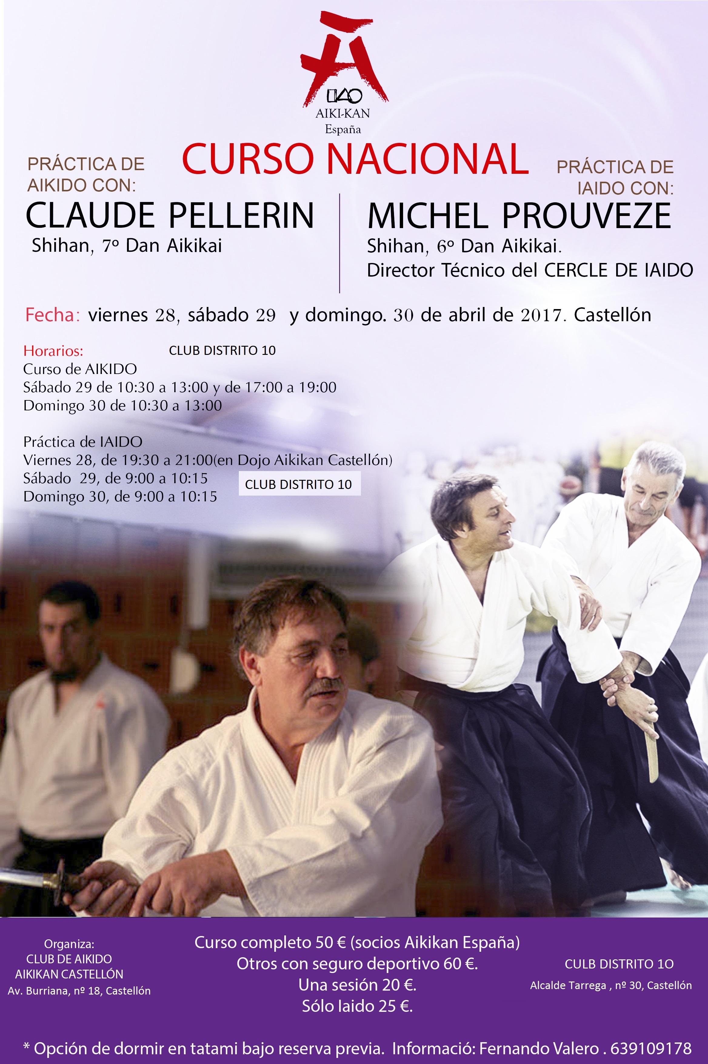 Curso nacional de Aikido/Iaido en Castellón